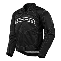 ICON Men's Contra Black Textile Jacket