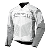 ICON Men's Contra White Textile Jacket