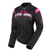 ICON Women's Contra Black/Pink Textile Jacket
