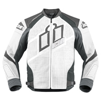 ICON Men's Hypersport Prime White Jacket