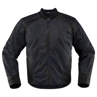 ICON Men's Overlord Black Textile Jacket