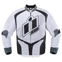 ICON Men's Overlord White Textile Jacket