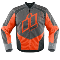 ICON Men's Overlord Orange Textile Jacket