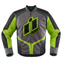 ICON Men's Overlord Green Textile Jacket