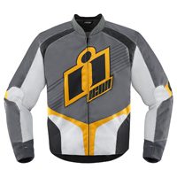 ICON Men's Overlord Gray/Yellow Textile Jacket