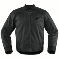 ICON Men's Stealth Overlord Black Jacket