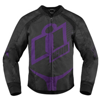 ICON Women's Overlord Purple Textile Jacket
