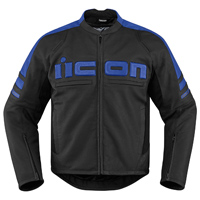 ICON Men's Icon Motorhead 2 Blue Jacket