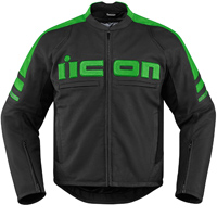 ICON Men's Icon Motorhead 2 Green Jacket
