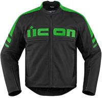 ICON Men's Icon Motorhead 2 Green Jacket