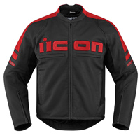ICON Men's Icon Motorhead 2 Red Jacket