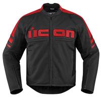 ICON Men's Icon Motorhead 2 Red Jacket