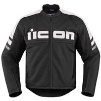 ICON Men's Icon Motorhead 2 White Jacket