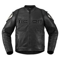 ICON Men's TiMAX Black Leather Jacket