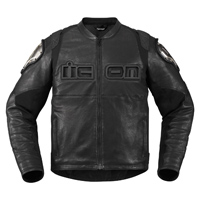 ICON Men's TiMAX Black Leather Jacket