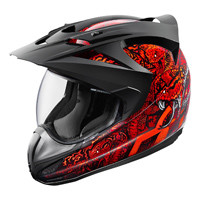 ICON Variant Cottonmouth Red Full Face Helmet