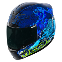 ICON Airmada Thriller Blue Full Face Helmet