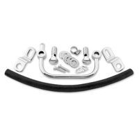 Biker's Choice Tube Breather Kit Chrome
