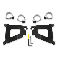 Memphis Shades Bullet Fairing Black Trigger-Lock Mount Kit Metric