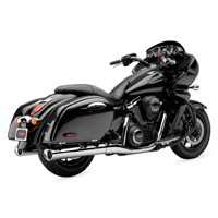 Cobra Tri Flo Slip On Mufflers Chrome