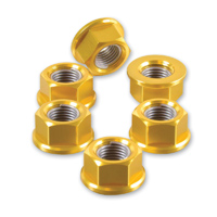 Pro-Bolt 10mm Gold Aluminum Sprocket Nuts