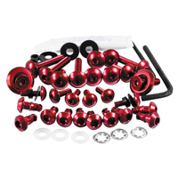 Pro-Bolt Aluminum Fairing Bolt Kit - Red