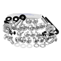 Pro-Bolt Aluminum Fairing Bolt Kit - Silver