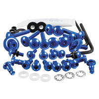 Pro-Bolt Aluminum Fairing Bolt Kit - Blue