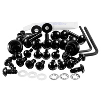Pro-Bolt Aluminum Fairing Bolt Kit - Black