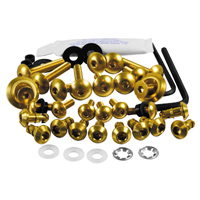 Pro-Bolt Aluminum Fairing Bolt Kit - Gold