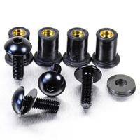 Pro-Bolt 6 Pack Black Aluminum Windscreen Bolt Kit