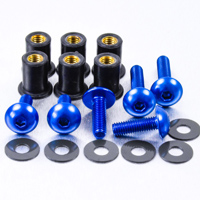 Pro-Bolt 6 Pack Blue Aluminum Windscreen Bolt Kit