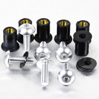 Pro-Bolt 6 Pack Silver Aluminum Windscreen Bolt Kit