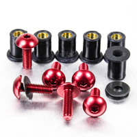 Pro-Bolt 8 Pack Red Aluminum Windscreen Bolt Kit