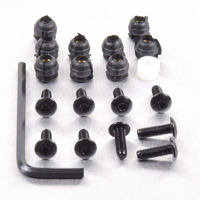 Pro-Bolt 9 Pack Black Aluminum Windscreen Bolt Kit