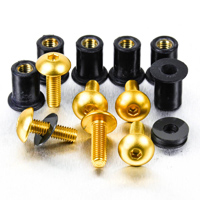 Pro-Bolt 9 Pack Gold Aluminum Windscreen Bolt Kit
