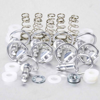 [BRAND] Stainless Steel Quick Release D-Ring 17mm 10Pk Silver
