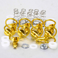 [BRAND] Aluminum Quick Release D-Ring 17mm 10 Pack Gold