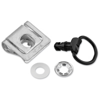 [BRAND] Aluminum Quick Release D-Ring W/Slide Clip 14mm 10Pk Black