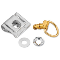 Pro-Bolt Aluminum Quick Release D-Ring W/Slide Clip 14mm 10Pk Gold