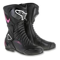 Alpinestars Women's Stella SMX-6 v2 Vented Black/Pink Boots