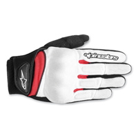 Alpinestars Men's Spartan White/Red Gloves