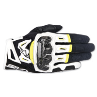 Alpinestars Men's SMX-2 v2 Air Carbon Black/White/Hi-Viz Gloves