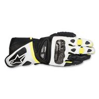 Alpinestars Men's SP-1 Black/White/Hi-Viz Leather Gloves