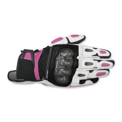 Alpinestars Women's Stella SPX Air Carbon Black/White/Pink Gloves