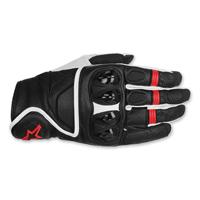Alpinestars Men's Celer Black/Red Leather Gloves