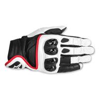 Alpinestars Men's Celer Black/White/Red Leather Gloves
