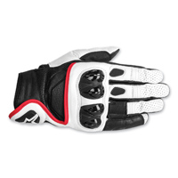 Alpinestars Men's Celer Black/White/Red Leather Gloves