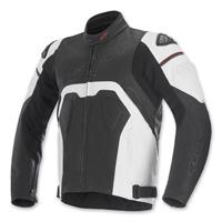 Alpinestars Men's Core Black/White Leather Jacket