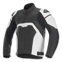 Alpinestars Men's Core Black/White Leather Jacket